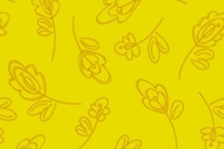 Picture of Floret lemon poplin (SOLD OUT)