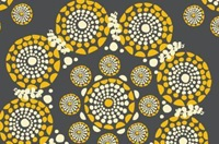 Eyes of the World Grey-Yellow cotton sateen (width 279 cm)-2