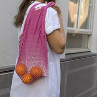 Fuchsia Granny/String Bag (901058)-2