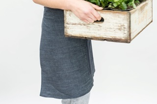 Picture of Short Catering Apron - light denim (922043)
