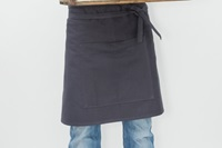 Short Catering Apron - anthracite canvas (922017)