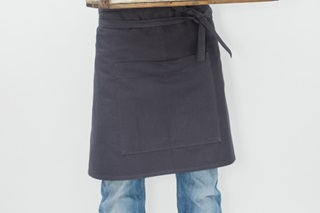 Picture of Short Catering Apron - anthracite canvas (922017)