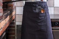 Long Catering Apron - anthracite canvas (923017)