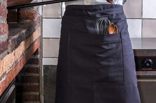 Picture of Long Catering Apron - anthracite canvas (923017)