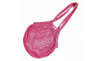 Picture of Fuchsia Granny/String Bag with long handle (901358)