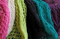 Fuchsia Granny/String Bag with long handle (901358)-2