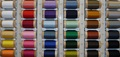 Sewing thread - spools overview colours