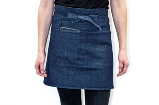 Picture of Short Catering Apron - heavy denim (920045)