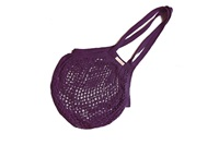 Plum Granny/String Bag with long handle (901360)