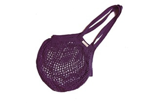 Picture of Plum Granny/String Bag with long handle (901360)