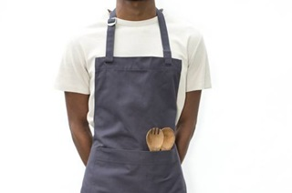 Picture of Apron - anthracite canvas (920017)