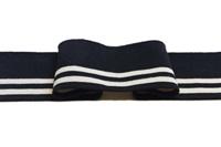 Black-Ecru stripe Cuff 1x1 (with elastane) (718110)