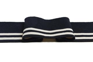 Picture of Black-Ecru stripe Cuff 1x1 (with elastane) (718110)