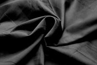 Black cotton sateen (width 162 cm)
