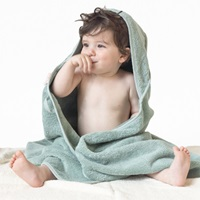 Baby towel with hood - Mineral Green (981045)-2