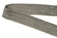 Natural-Black ribbon - 25 mm (006125)