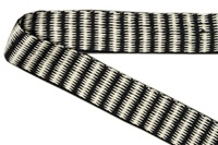 Natural-Black ribbon zigzag - 25 mm (006225)